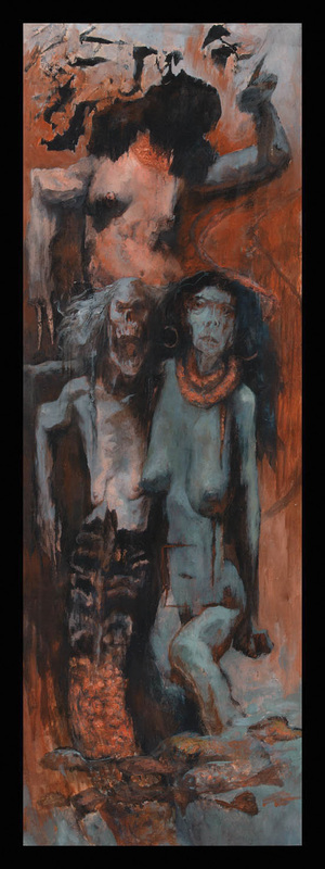Three Disgraces OIL ON PAPER 2002